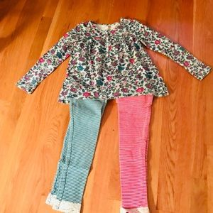Tea Collection 3pc outfit.  Tunic and 2 leggings.
